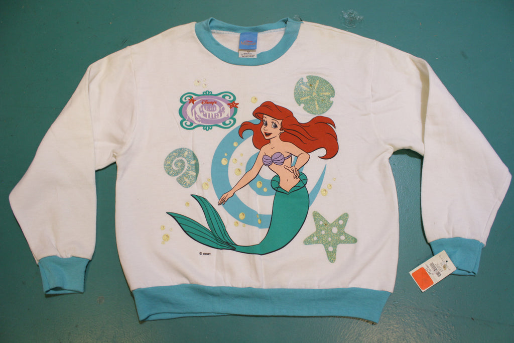 The Little Mermaid Disney Vintage Deadstock NWT 80's Sweatshirt