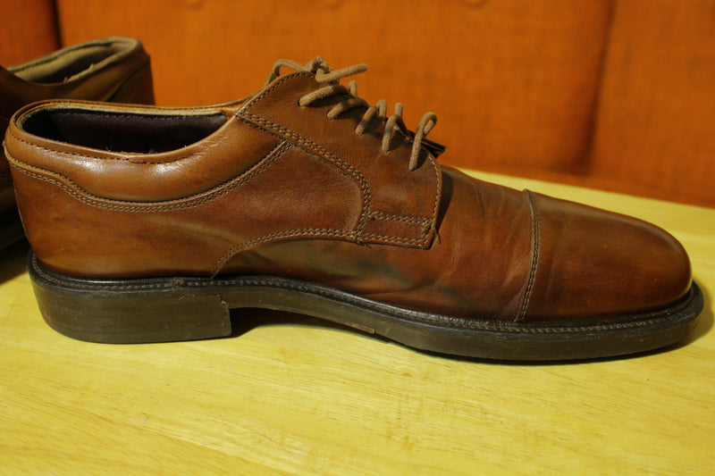 Johnston & Murphy Hollis Waterproof Cap Toe Oxford Men's Size 10 Italian Leather