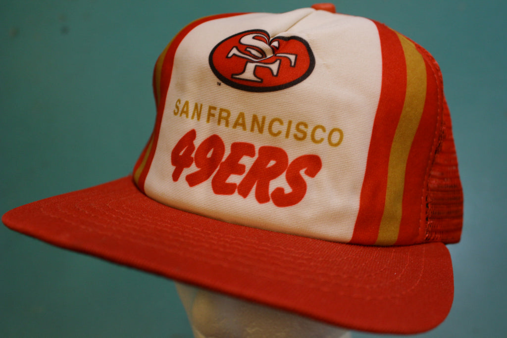 San Francisco 49ers Deadstock 80's New Era Vintage Snapback Trucker Cap Hat