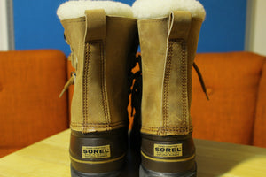 New Eddie Bauer SOREL Kaufman Caribou Vintage Winter Snow Boots Women's Size 10