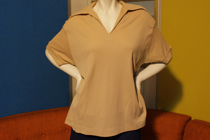 Lane Bryant Vintage 70's Polo Shirt.  XL 100% Nylon.