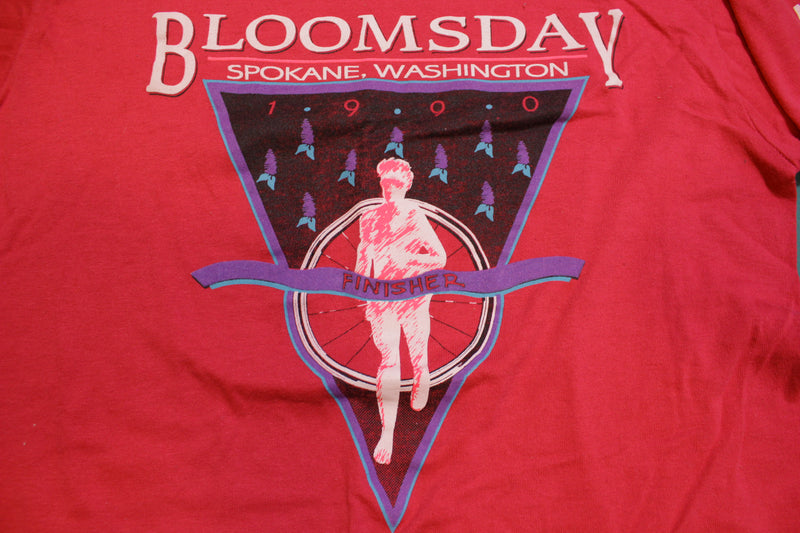 Bloomsday Nike 1990 Spokane Washington Running Marathon 90's Vintage T-shirt