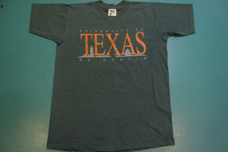 University of Texas Austin 1992 Striped Made in USA 90's Vintage T-shirt