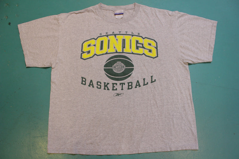 Seattle Sonics Western Conference Basketball Reebok 90's Vintage T-shirt