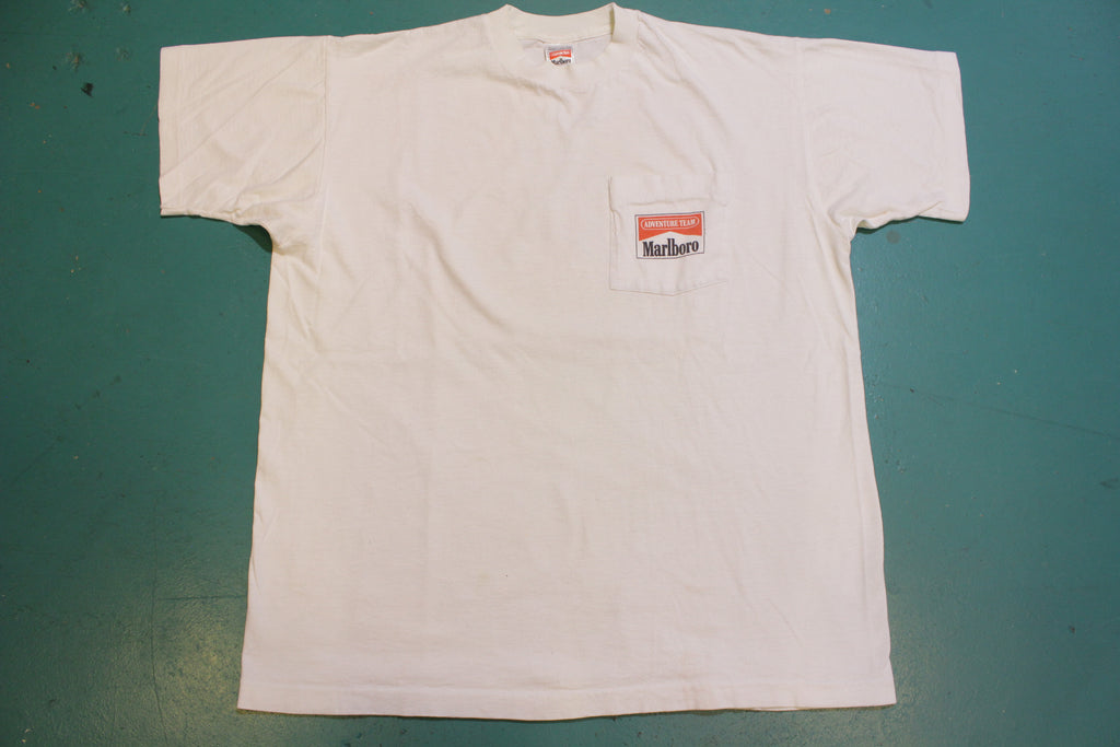 Marlboro Adventure Team Motocross Motorcycle Vintage 90's Single Stitch T-Shirt