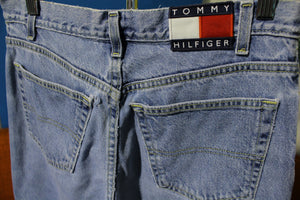 4cee3e51c6 Tommy Hilfiger Vintage Patch Women s 90 s Jeans. Faded Stone Washed USA Made .