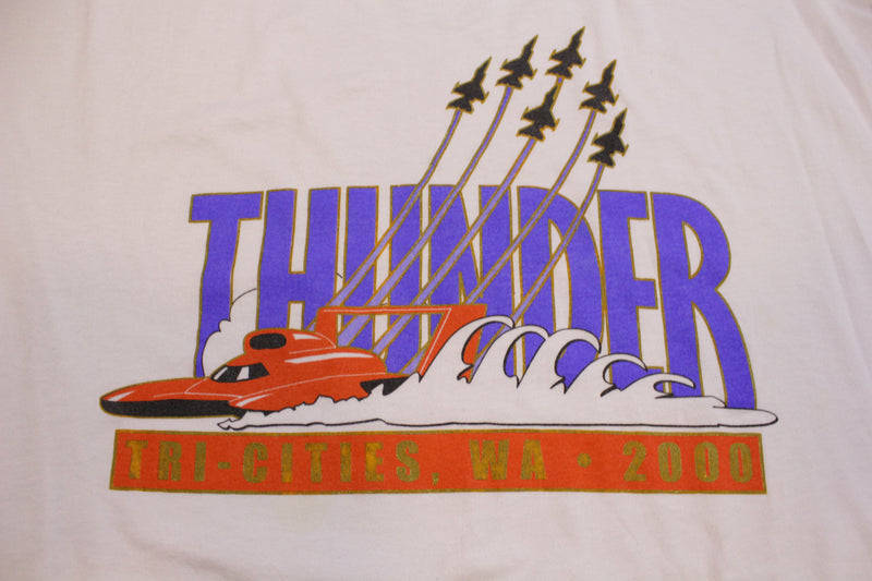 Tri-Cities WA Thunder Hydroplane Racing Vintage 2000 Water Follies T-Shirt