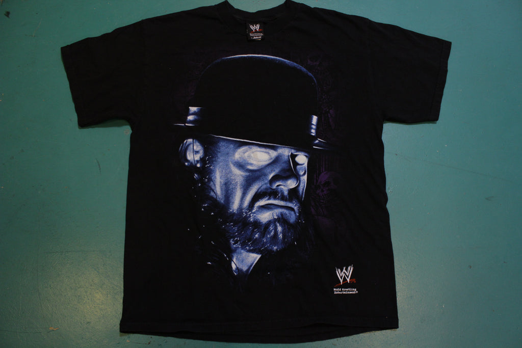 Undertaker Original Deadman Glowing Eyes Vintage 2007 Wrestling WWE T-Shirt