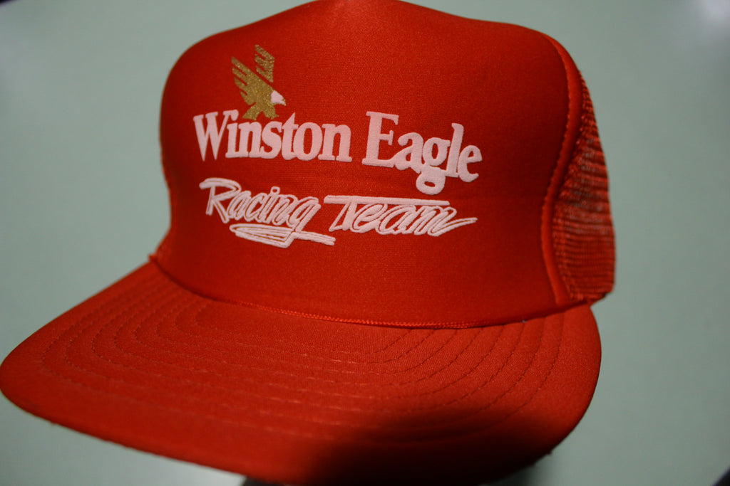 Winston Eagle Racing Team Vintage 80's Adjustable Back Snapback Trucker Hat