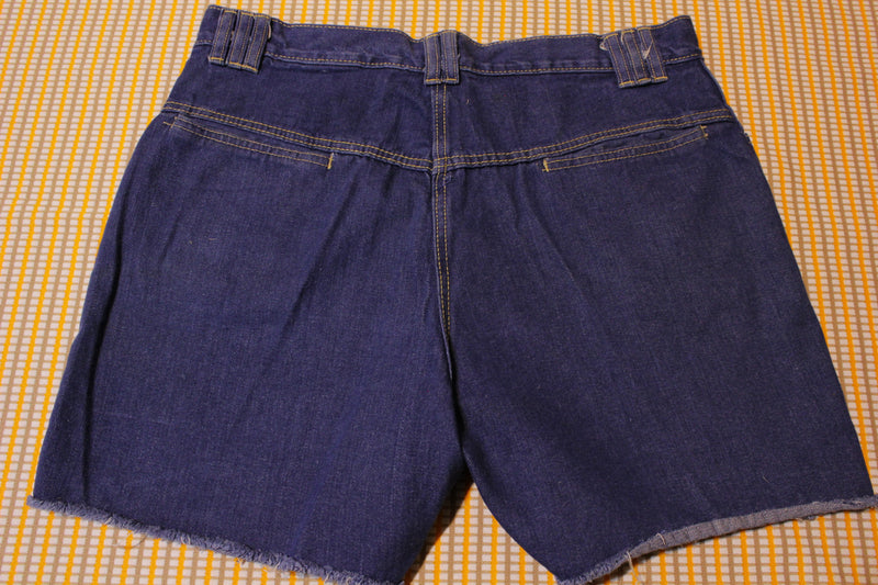 Kmart 70's Latice Jean Shorts. Rare Unique Vintage Weave Pattern Denim Cut Offs.