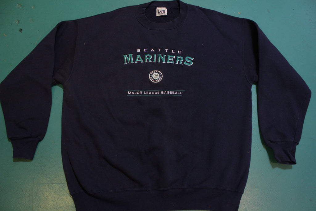 Seattle Mariners Major League Baseball Embroidered Vintage 90's Crewneck Sweatshirt