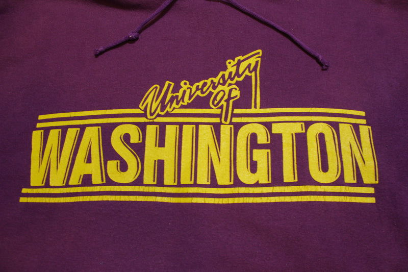 University of Washington UW Vintage 90's Hoodie Jantzen Huskies Sweatshirt