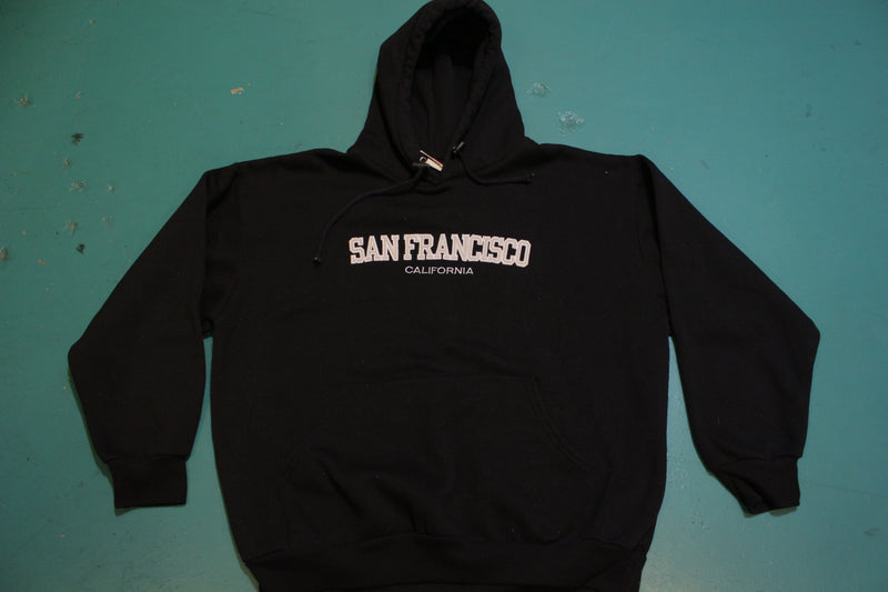 San Francisco Black Tourist Vintage 90's Hoodie USA Made Sweatshirt