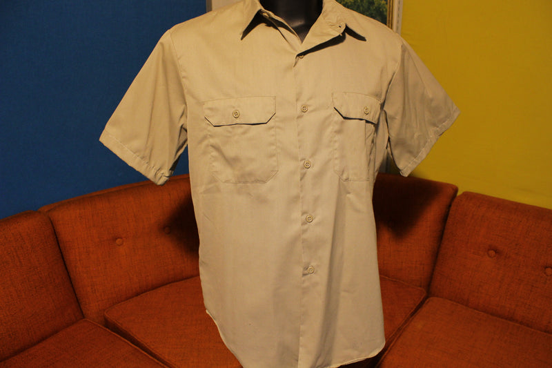 Penneys Big Mac Penn Prest Vintage Men's Cotton Twill Work Utility Chore Shirt