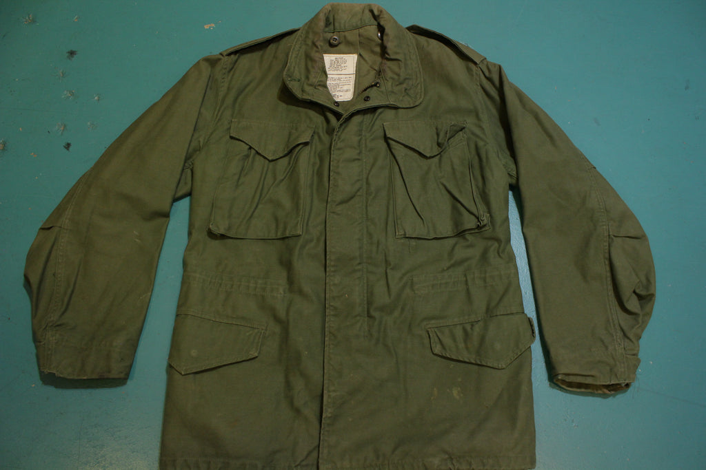 1981 Vintage M-65 Airforce Field Jacket w/ Liner OG-107 DLA-81-C-2335 Small