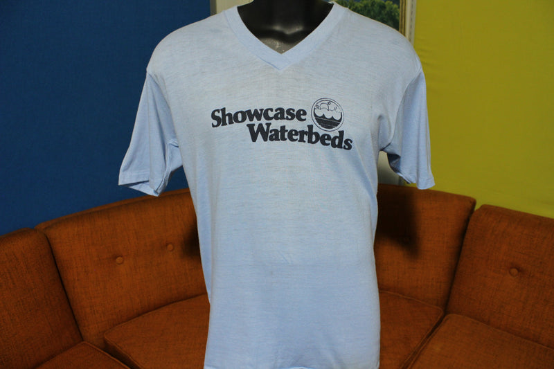 Showcase Waterbed I Only Sleep With The Best Vintage 80's Tee T-Shirt V-Neck Thin