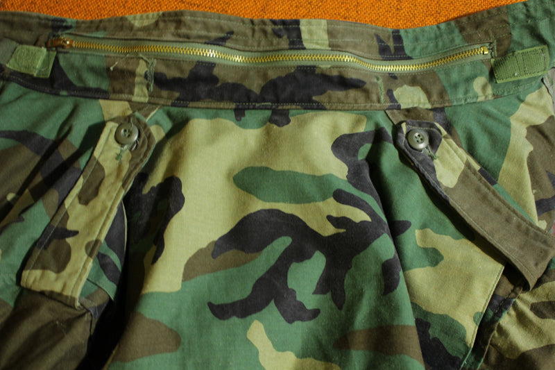 Vintage M-65 Cold Weather Field Coat Camouflage Military Jacket DLA100 83