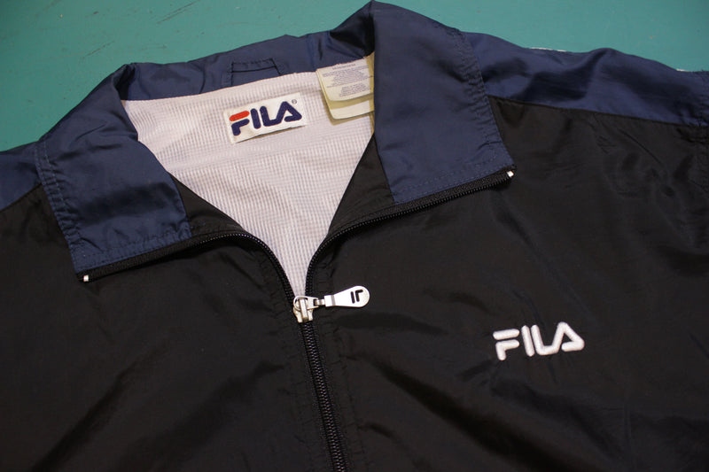 Fila Soccer Color Block Vintage 90's Windbreaker Jacket