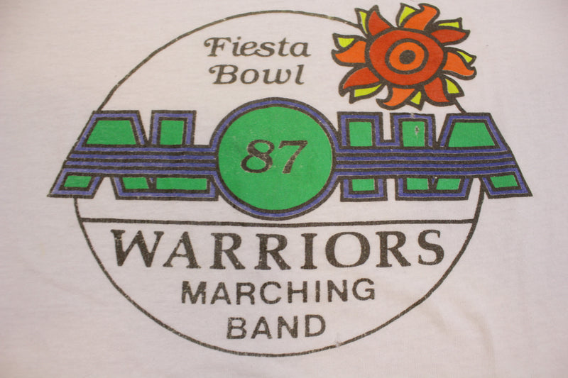 Fiesta Bowl 1987 Aloha Warriors Marching Band Vintage Single Stitch 80's T-Shirt