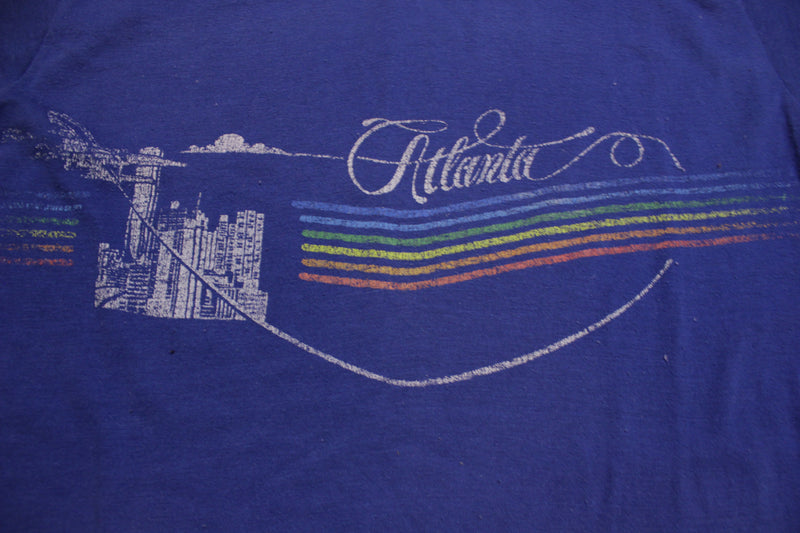 Atlanta Single Stitch Velva Sheen Made In USA Vintage 80's T-Shirt