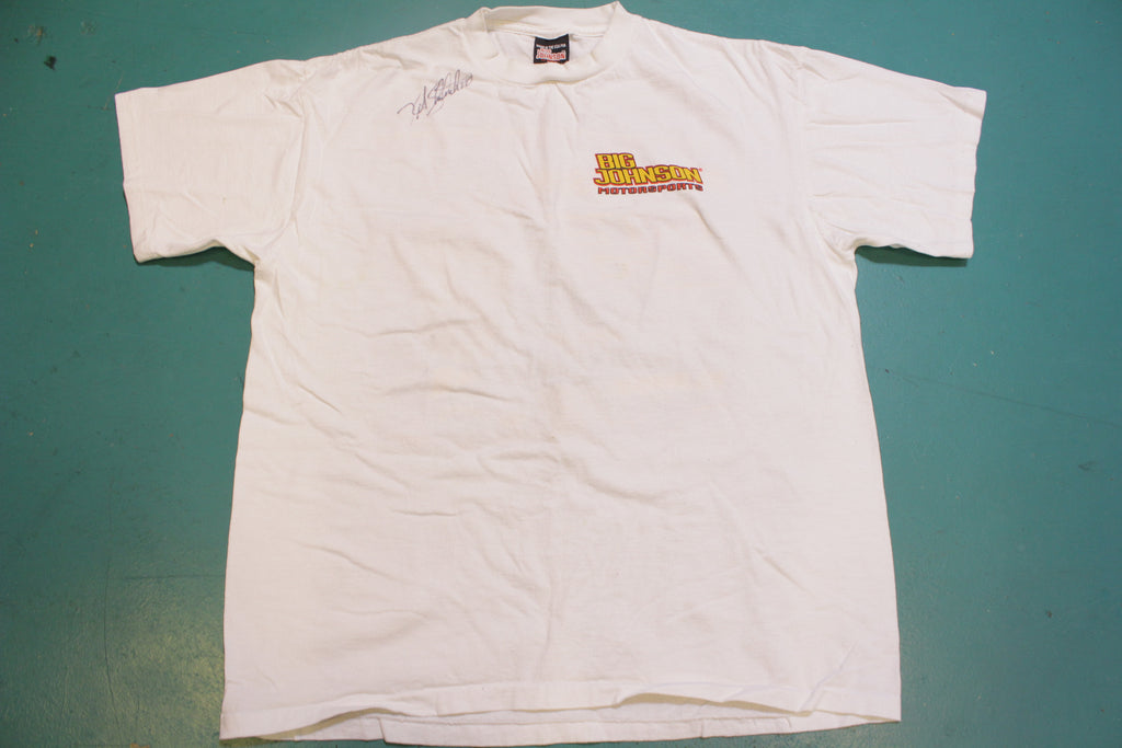 Kirk Shelmerdine Nascar Racing Big Johnson Made In USA Vintage 90's T-Shirt