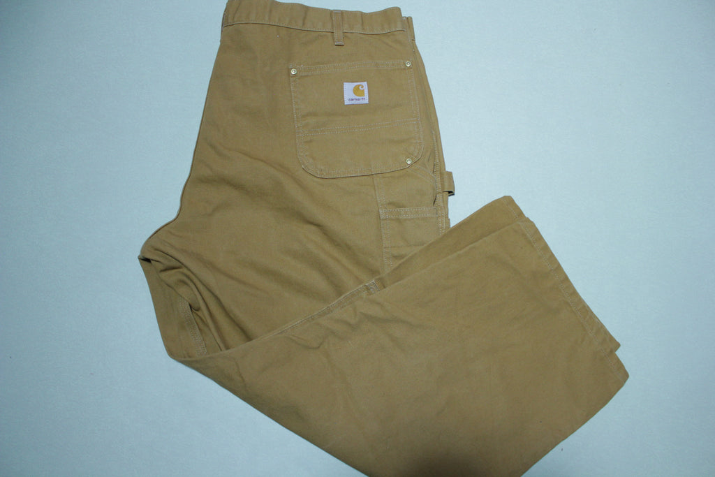 Carhartt B01 BRN Washed Duck Work Double Knee Front Pants