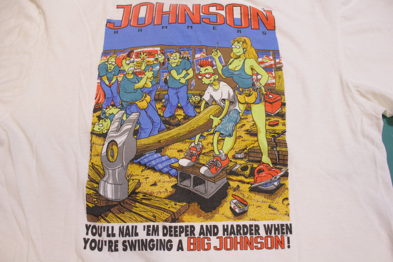 Big Johnson Hammers Nail Em Single Stitch Made In USA Vintage 90's T-Shirt