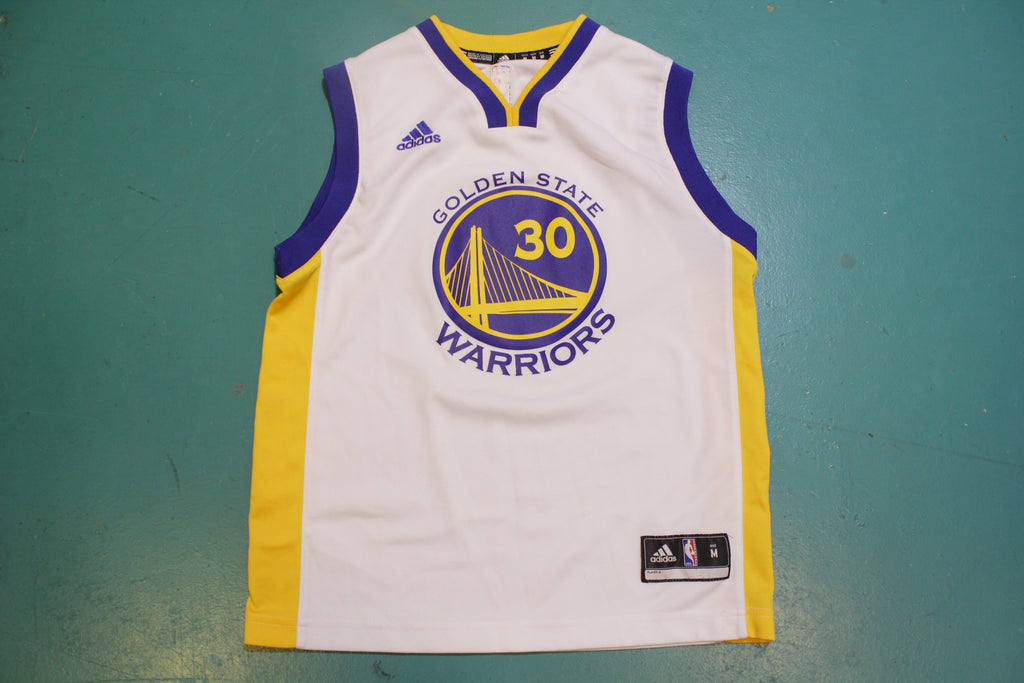 Stephen Curry 30 Golden State Warriors Vintage Adidas Jersey White