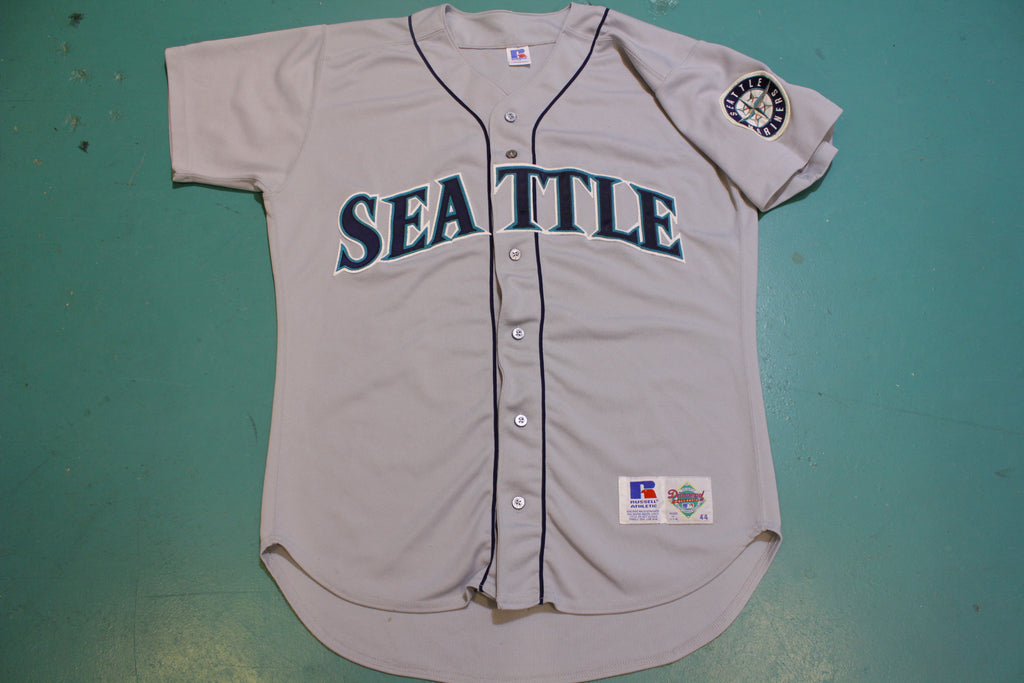 Seattle Mariners Vintage Russell USA Diamond Collection 90's Button UP Jersey