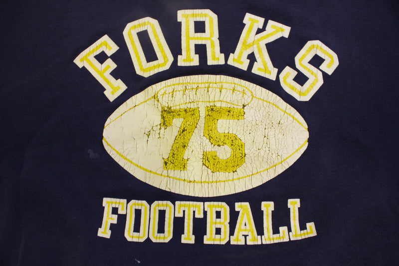 Forks Football 75 Spartans Washington Vintage 80's Crewneck Sweatshirt