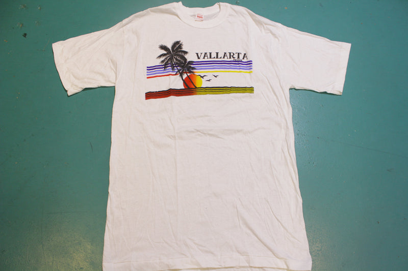 Vallarta Mexico Beach Sunset Single Stitch Vintage 80's T-Shirt