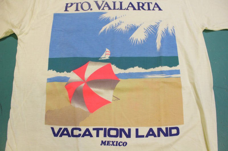 Vallarta Mexico Vacation Land Single Stitch Vintage 80's T-Shirt