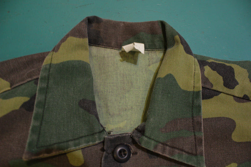Liberty Made In USA Vintage 3 Pocket Military Camo Field Jacket