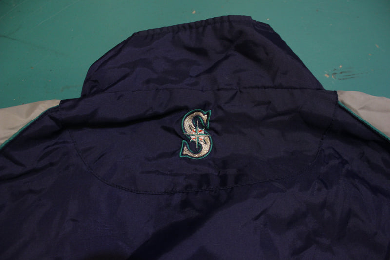 Seattle Mariners Vintage 90's Majestic Windbreaker Warm Up Jacket