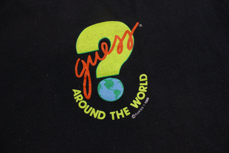 Guess 1989 Around The World Georges Marciano Print Vintage 80's T-Shirt