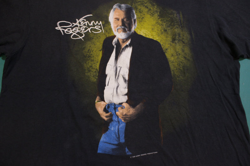 Kenny Rogers Gambler 1989 Single Stitch Vintage 80's T-Shirt