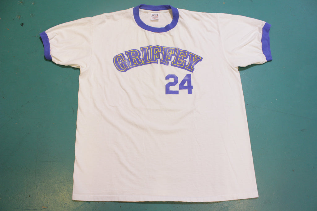 Ken Griffey Jr. Seattle Mariners Vintage 90's Ringer T-Shirt