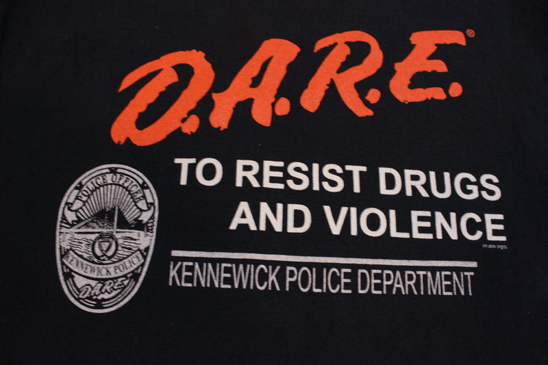 DARE to Resist Drugs and Violence Kennewick Police Department T-Shirt