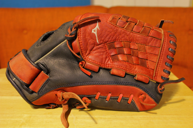Mizuno MVP Prime SE Right Hand Throw Glove Mitt 12.5 Special Edition Red Black Velcro