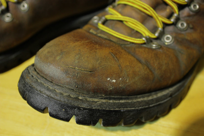 VINTAGE Herman Survivor Leather Work Boots - Size 10D Sears 40's 50's Logger