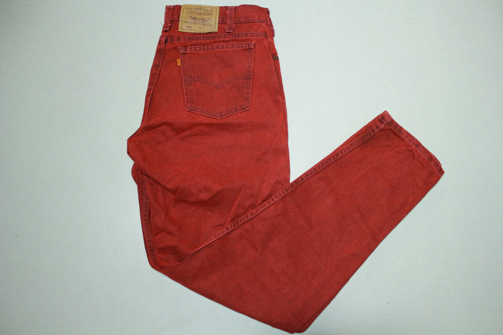 Levis 550 505 Vintage 90's Denim Grunge Punk Jeans Dark Wash Red VERY RARE