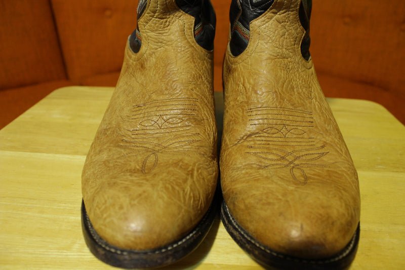 Tony Lama Men's Pecan Taurus Shoulder Cowboy Boot Round Toe - 6184C 10.5D