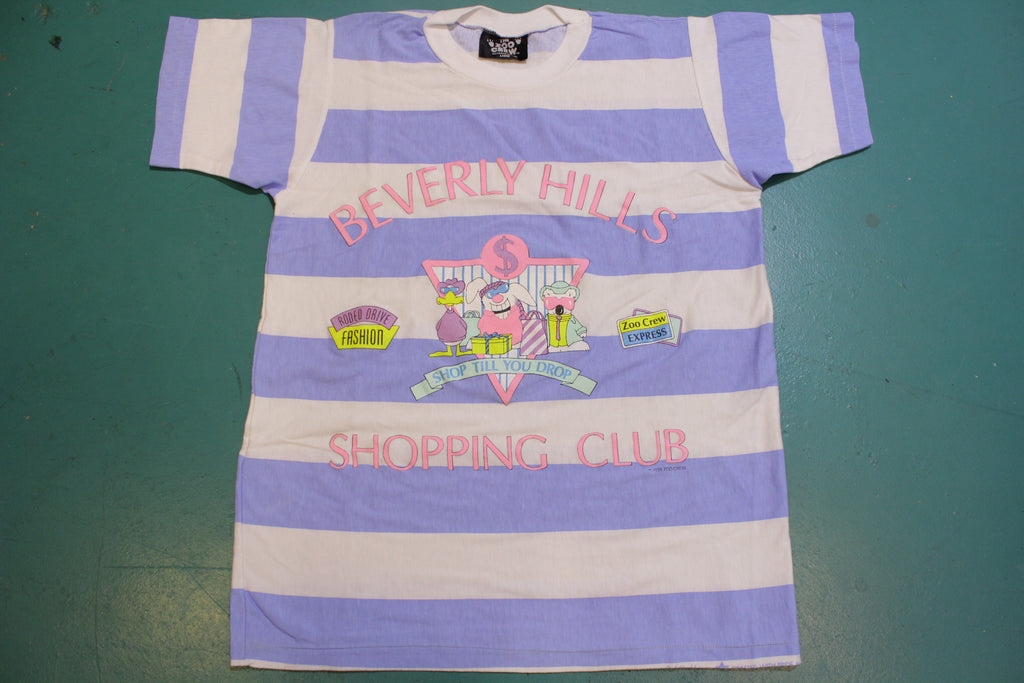 Beverly Hills Shopping Club Rodeo Drive Fashion Zoo Crew 80's Single Stitch T-Shirt