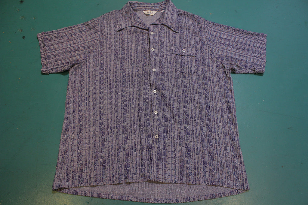 Da Vinci California Vintage Button Up Polo Mafia Bowling 1960's Shirt
