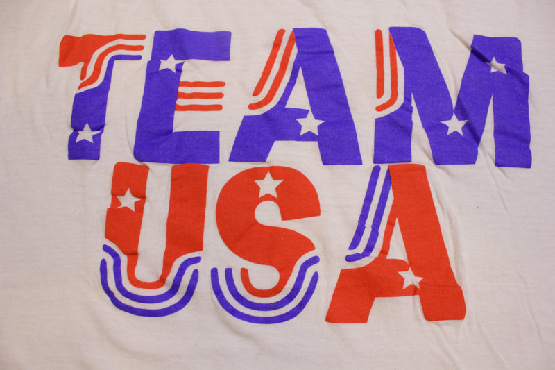 Team USA Short Hills Tee Olympics Vintage 80's T-Shirt