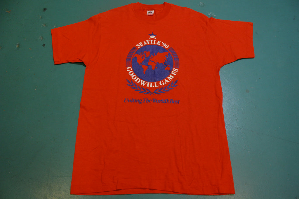Seattle 1990 Goodwill Games Uniting The World's Best Vintage 90's T-Shirt