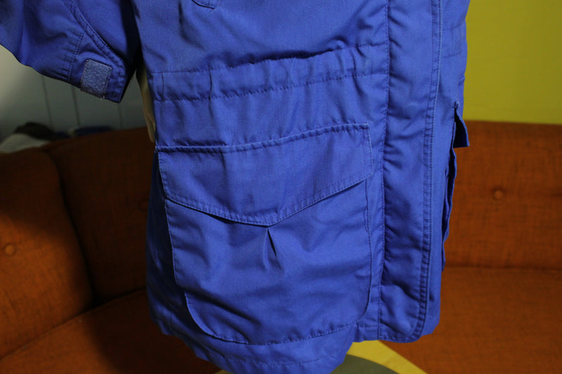 Pacific Trail New Spirit Vintage Flannel Lined Blue Women's Jacket. 80's Coat