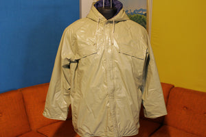Wetha Guard Rain Coat Academy Broadway Rainwear Tan Hooded Jacket Vintage 70s