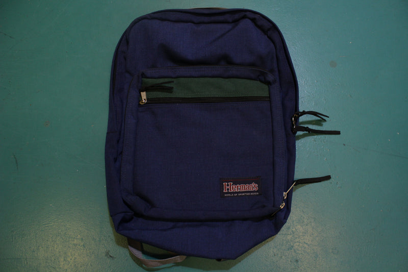 Herman's World of Sporting Goods 80's Camping Backpack College School Book Bag