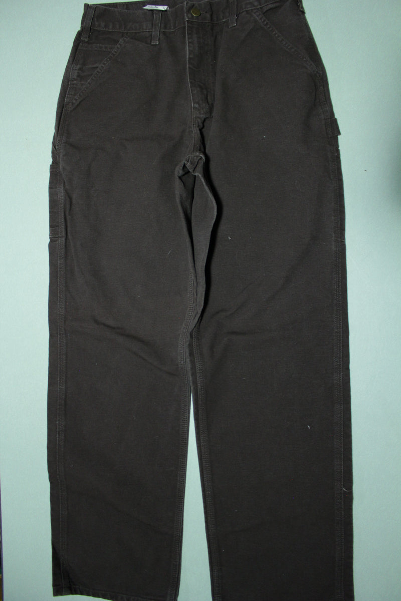 Carhartt B11 DKB Washed Duck Canvas Work Pants Dark Chocolate Brown